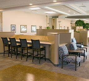 Chapel featuring Trava guest chairs, also available as bariatric seating. Furniture ideally suited to healthcare settings.