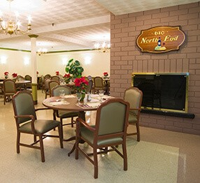 Skilled Nursing Furniture Case Studies VIEW ALL A Different Angle Of The Home Dining Room