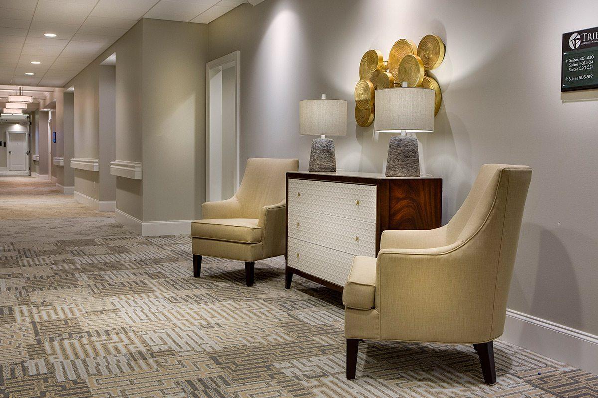 Kwalu furniture in hallway