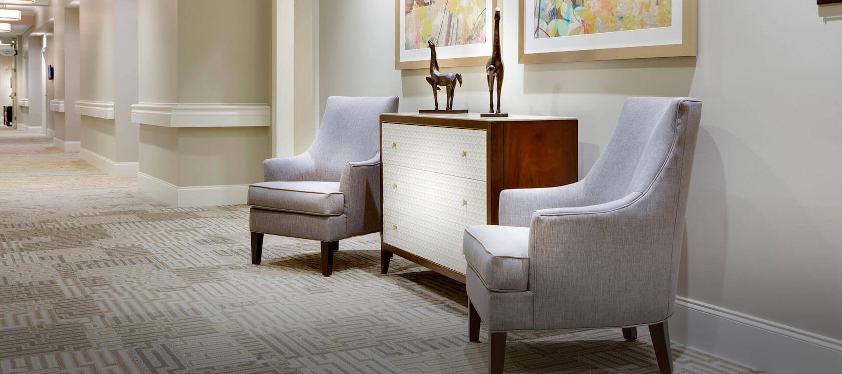 Enduring Sophistication 2 chairs in hallway
