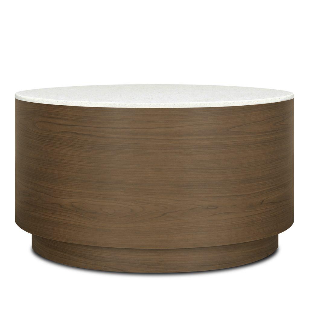 Brianza Drum Round Coffee Table - Kwalu