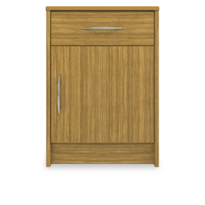 Kwalu product: Atlanta Bedside Cabinet, 1 Drawer, 1 Door