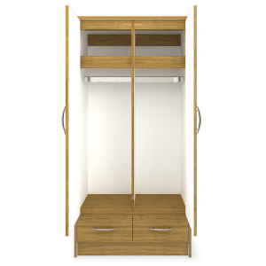 Kwalu product: Atlanta Alzheimers Double Wardrobe, 2 Drawers, 2 Doors