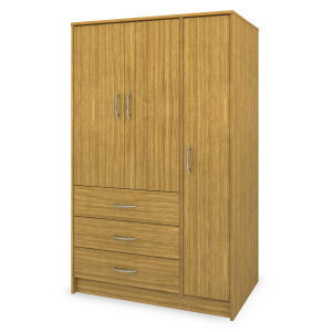 Kwalu product: Atlanta Armoire Wardrobe, 3 Drawers, 3 Doors