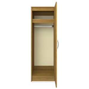 Kwalu product: Atlanta Single Wardrobe, No Drawers, 1 Door