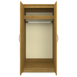 Kwalu product: Atlanta Double Wardrobe, No Drawers, 2 Doors