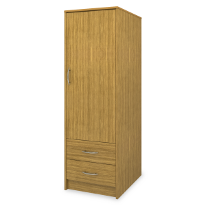 Kwalu product: Atlanta Single Wardrobe, 2 Drawers, 1 Door