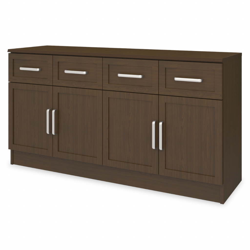 "Lancaster Media Console with Drawers – 60""W - Kwalu"