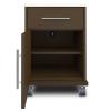 Auburn Bedside Cabinet, 1 Drawer, 1 Door, with Casters - Kwalu