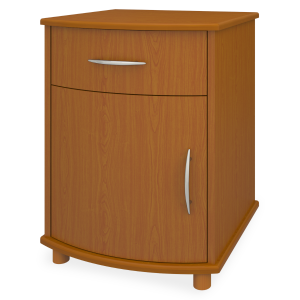 Kwalu product: Camelot Bedside Cabinet, 1 Drawer, 1 Door
