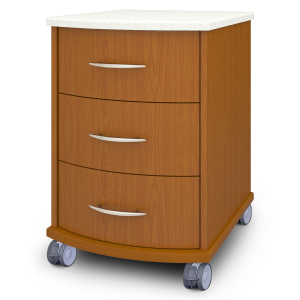 Kwalu product: Camelot Bedside Cabinet, 3 Drawers, with Casters