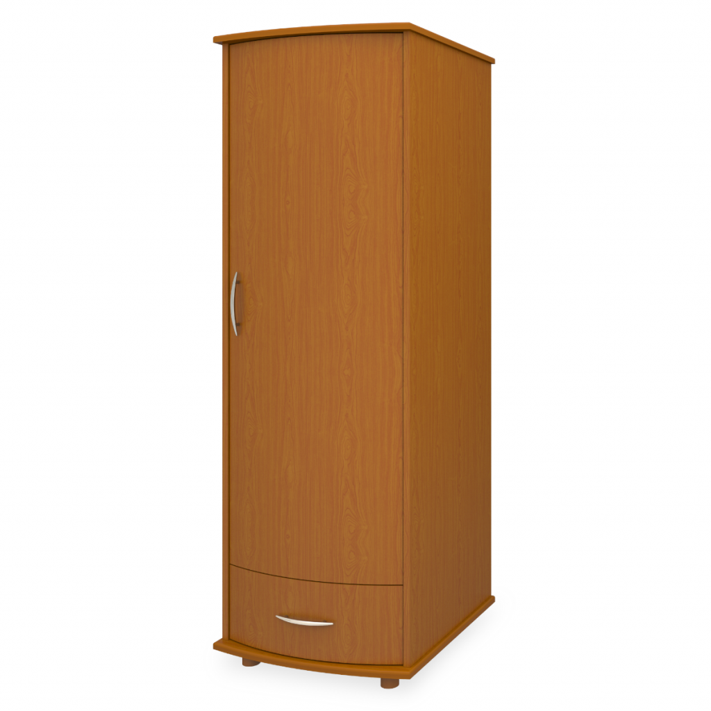 Camelot Single Wardrobe, 1 Drawer, 1 Door - Kwalu