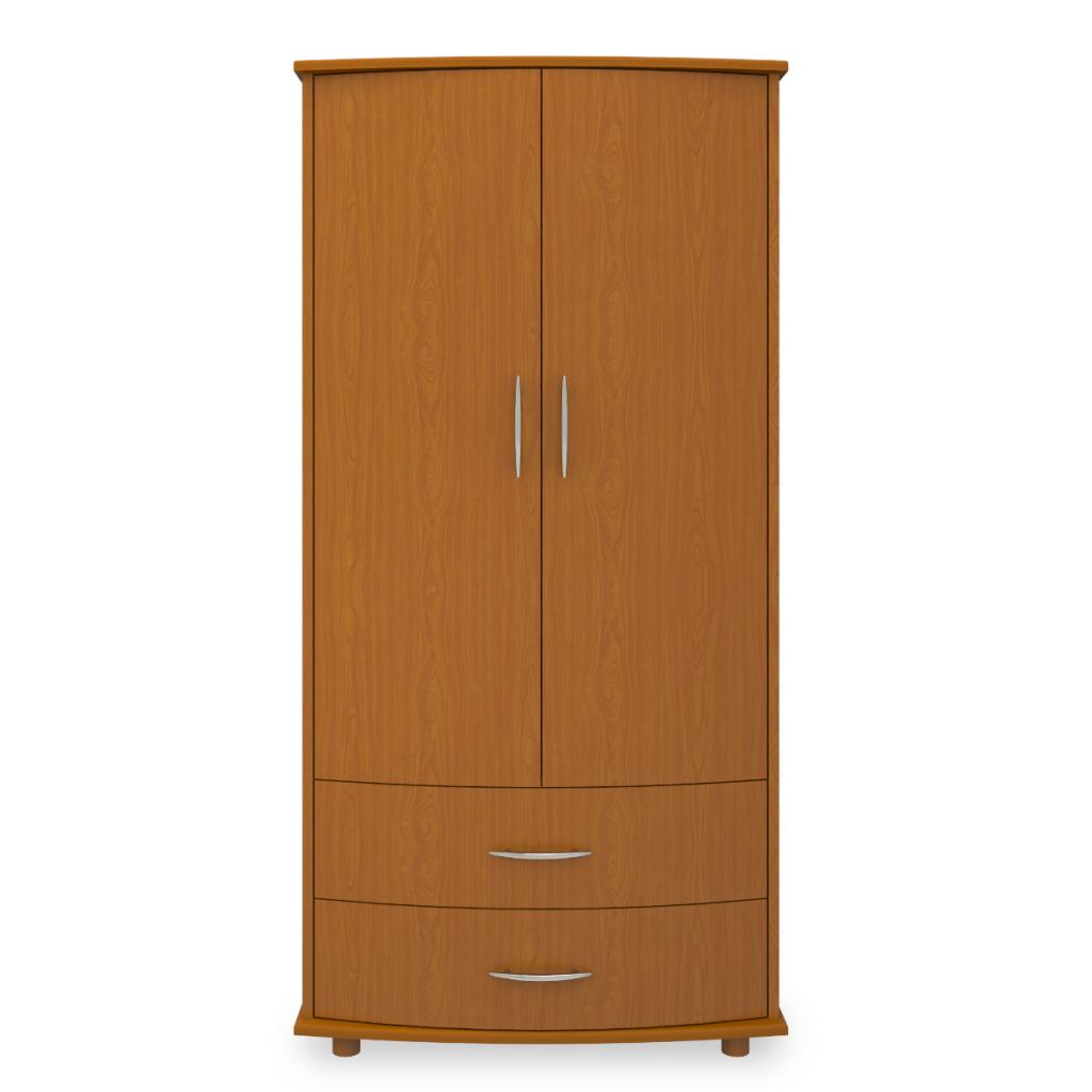 Camelot Double Wardrobe, 2 Drawers, 2 Doors - Kwalu