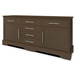 "Kwalu product: Dorchester Buffet Station – 72""W"