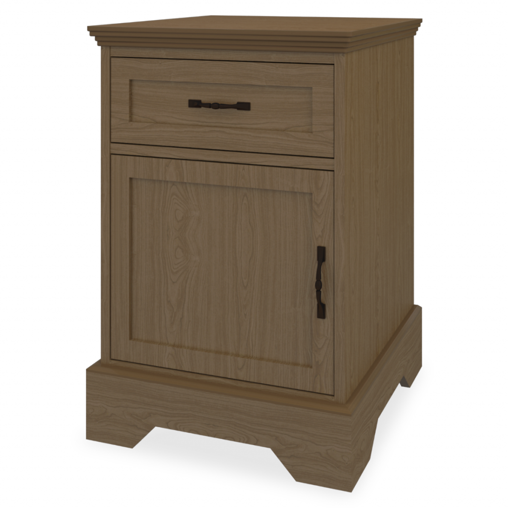 Dorchester Bedside Cabinet, 1 Drawer, 1 Door - Kwalu