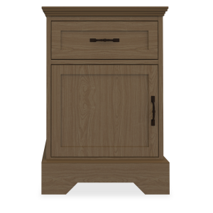 Kwalu product: Dorchester Bedside Cabinet, 1 Drawer, 1 Door