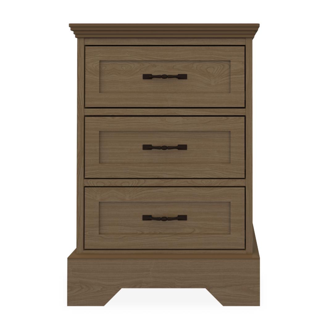 Dorchester Bedside Cabinet, 3 Drawers - Kwalu