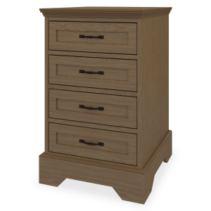 Kwalu product: Dorchester Bedside Cabinet, 4 Drawers