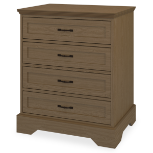 Kwalu product: Dorchester Chest Wide, 4 Drawers