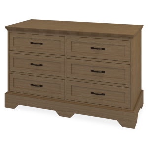 Kwalu product: Dorchester Dresser, 6 Drawers