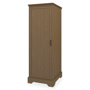 Kwalu product: Dorchester Single Wardrobe, No Drawers, 1 Door