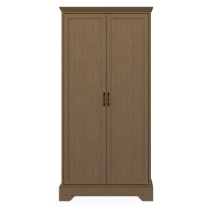 Kwalu product: Dorchester Double Wardrobe, No Drawers, 2 Doors