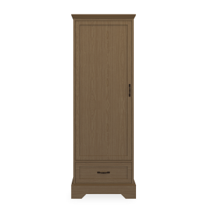 Kwalu product: Dorchester Single Wardrobe, 1 Drawer, 1 Door