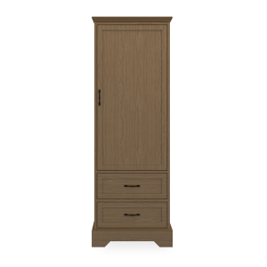 Kwalu product: Dorchester Single Wardrobe, 2 Drawers, 1 Door