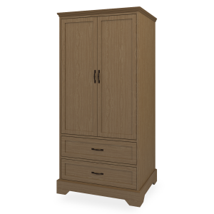 Kwalu product: Dorchester Double Wardrobe, 2 Drawers, 2 Doors