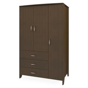 Kwalu product: Essex Armoire Wardrobe, 3 Drawers, 3 Doors
