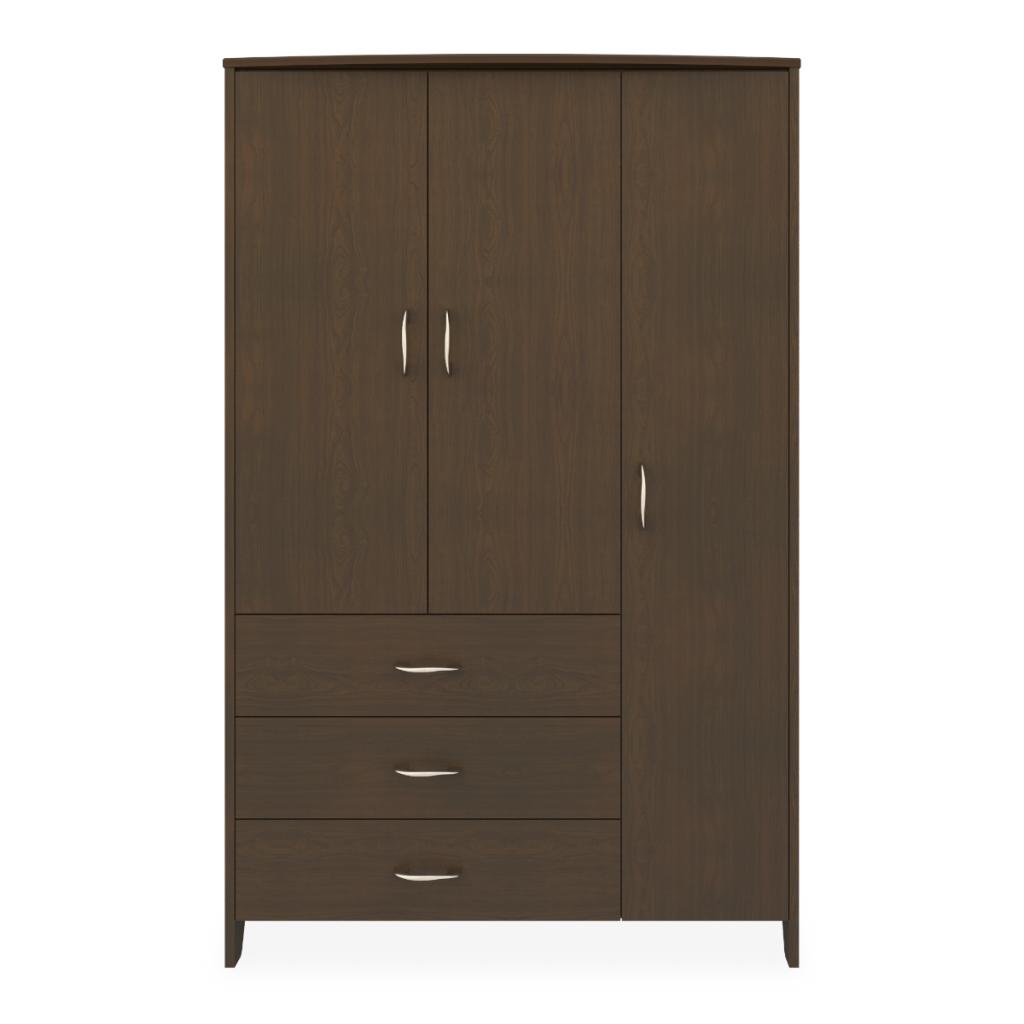Essex Armoire Wardrobe, 3 Drawers, 3 Doors - Kwalu