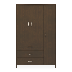 Kwalu product: Essex Armoire Wardrobe, 3 Drawers, 3 Doors