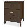 Essex Bedside Cabinet, 3 Drawers - Kwalu