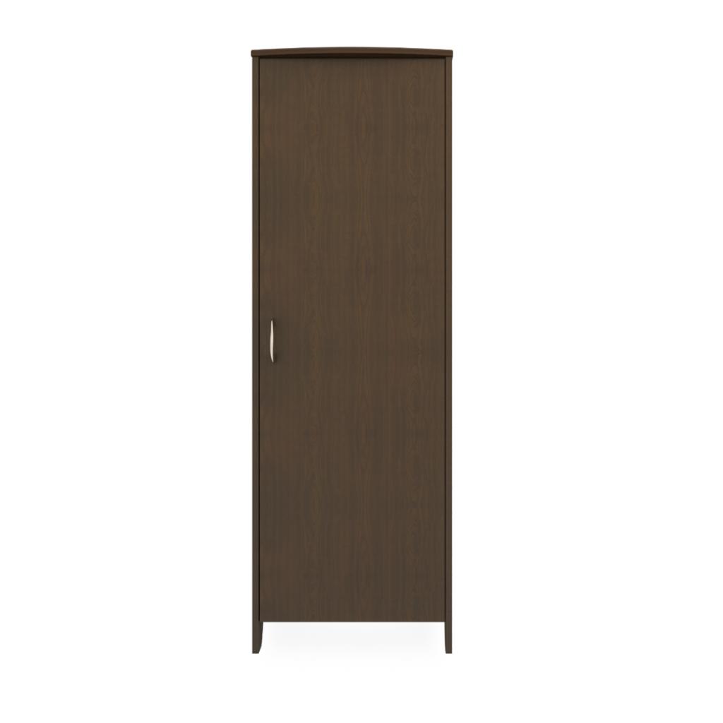 Essex Single Wardrobe, No Drawers, 1 Door - Kwalu