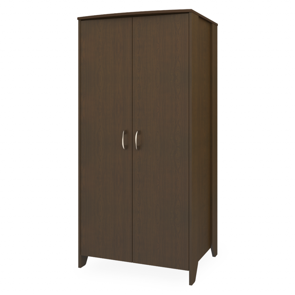 Essex Double Wardrobe, No Drawers, 2 Doors - Kwalu