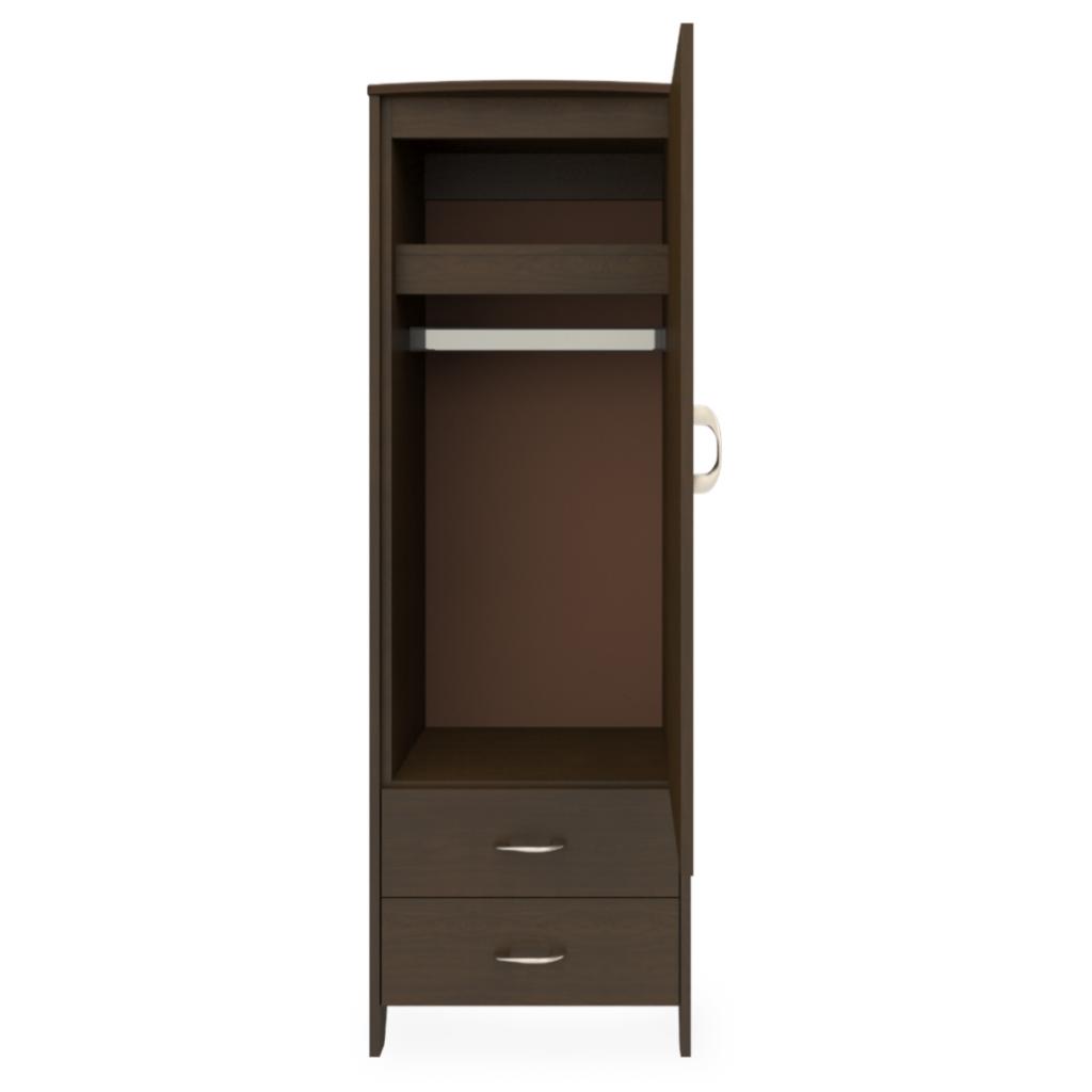Essex Single Wardrobe, 2 Drawers, 1 Door - Kwalu
