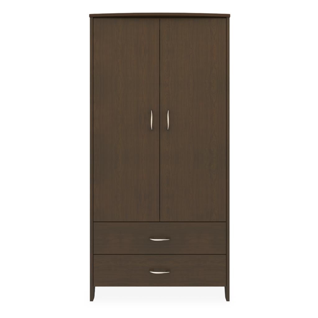 Essex Double Wardrobe, 2 Drawers, 2 Doors - Kwalu