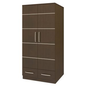Kwalu product: Hollywood Alzheimers Double Wardrobe, 2 Drawers, 2 Doors