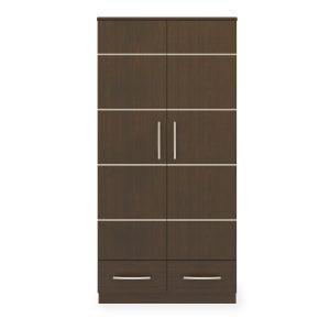 Kwalu product: Hollywood Alzheimers Double Wardrobe, 2 Drawers, 2 Doors