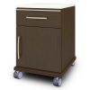 Hollywood Bedside Cabinet, 1 Drawer, 1 Door, with Casters - Kwalu