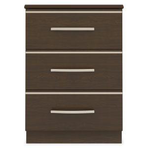 Kwalu product: Hollywood Bedside Cabinet, 3 Drawers