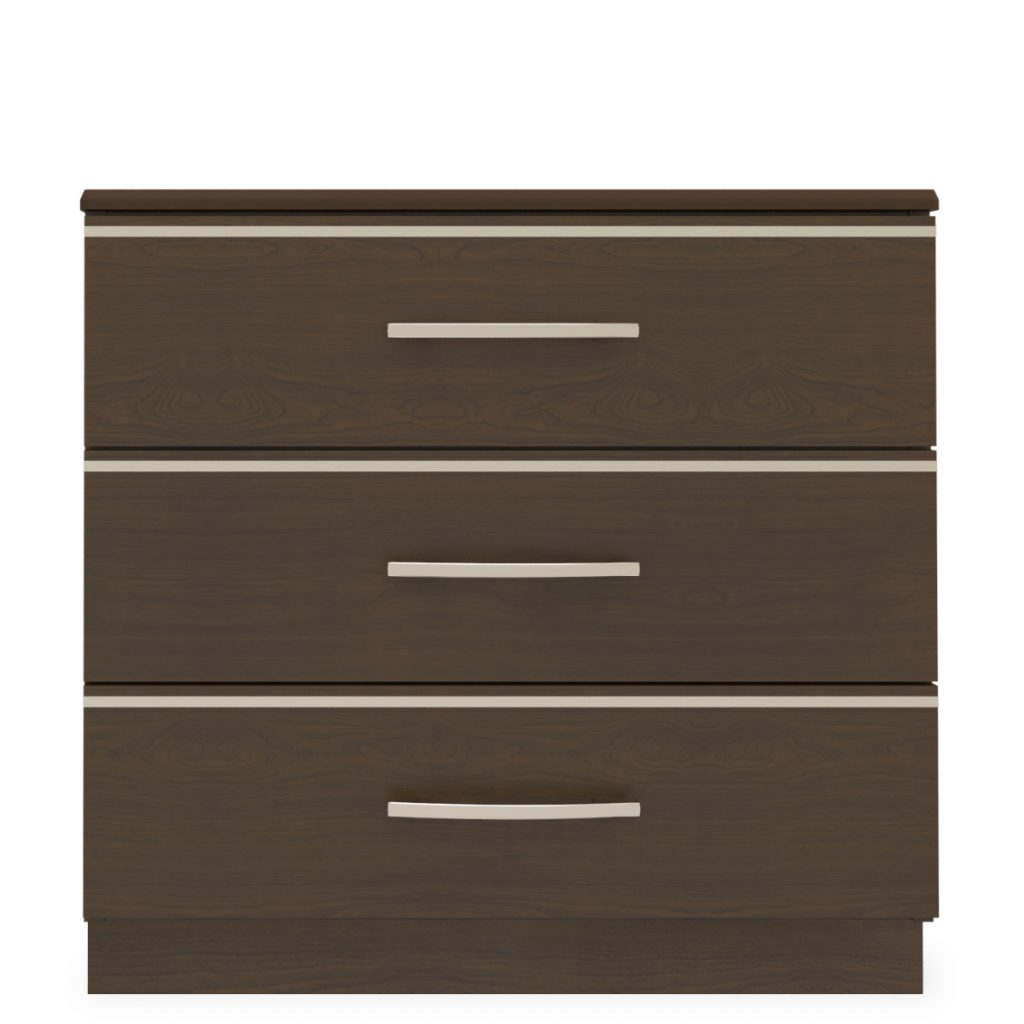 Hollywood Chest Wide, 3 Drawers - Kwalu
