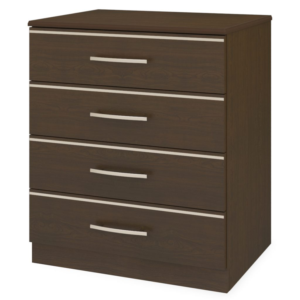Hollywood Chest Wide, 4 Drawers - Kwalu