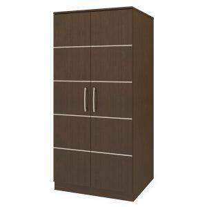 Kwalu product: Hollywood Double Wardrobe, No Drawers, 2 Doors