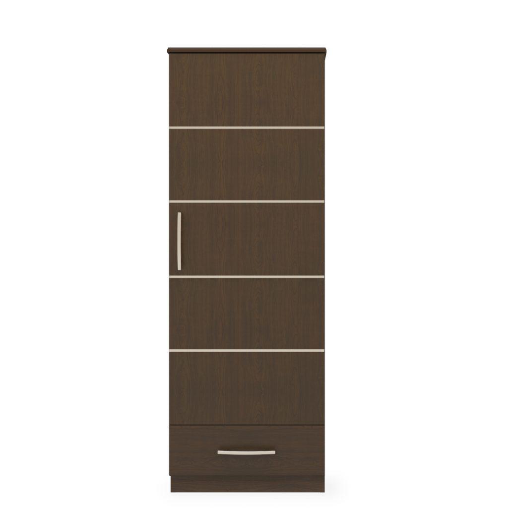 Hollywood Single Wardrobe, 1 Drawer, 1 Door - Kwalu