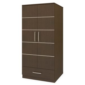 Kwalu product: Hollywood Double Wardrobe, 1 Drawer, 2 Doors