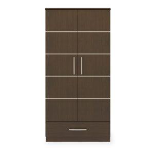 Kwalu product: Hollywood Double Wardrobe, 1 Drawer, 2 Doors