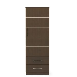 Kwalu product: Hollywood Single Wardrobe, 2 Drawers, 1 Door