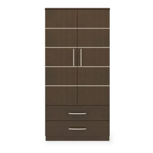 Kwalu product: Hollywood Double Wardrobe, 2 Drawers, 2 Doors
