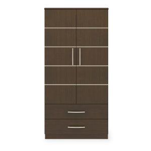Kwalu product: Hollywood Double Wardrobe, 2 Drawers, 2 Doors
